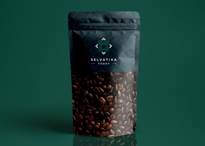 diseño logo marca café de la selva