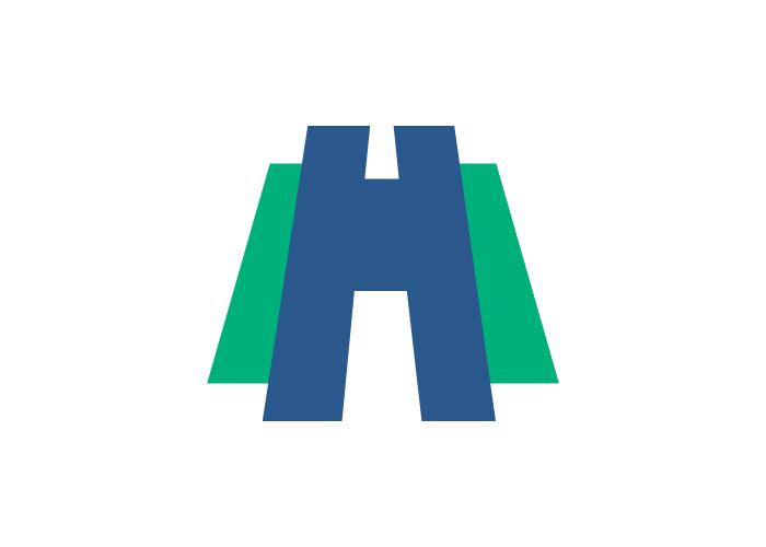 """Diseño de logo carretera y """"h"""""""