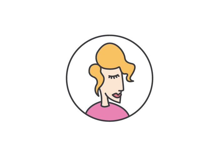 Diseño de logotipo para una tienda de ropa y complementos para mujer, situada en el barrio de Gracia, en Barcelona.