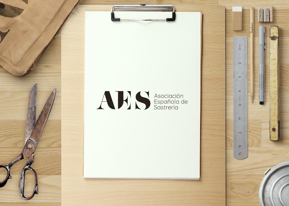 diseño logo asociación de sastrería