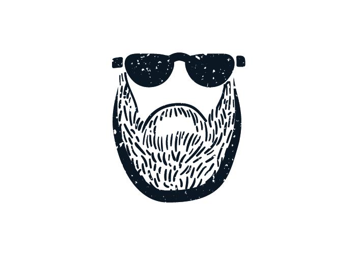Diseño logo ilustrado barba