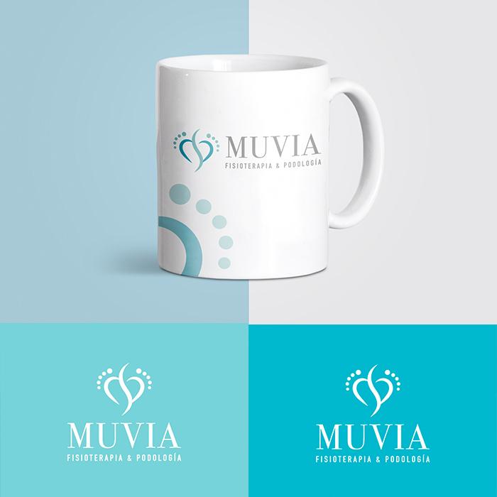 diseño logo fisioterapia y podología