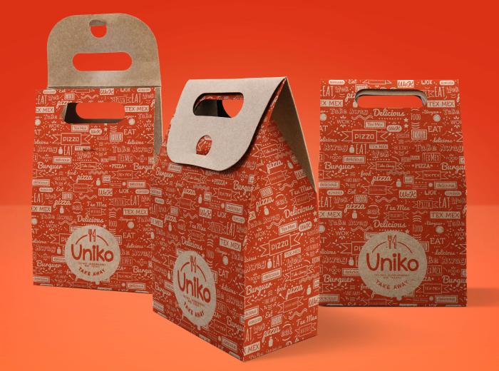Diseño de packaging comida a domicilio