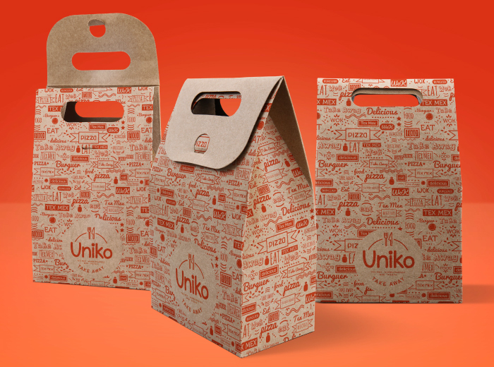 Diseño de soporte comida para llevar