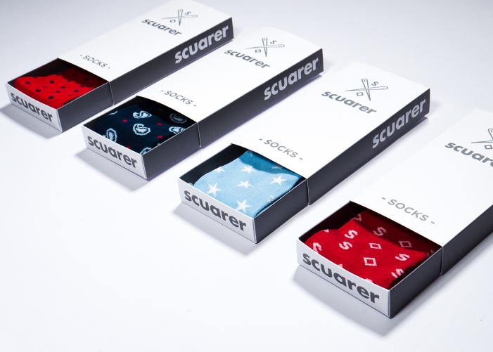 Diseño packaging  calcetines