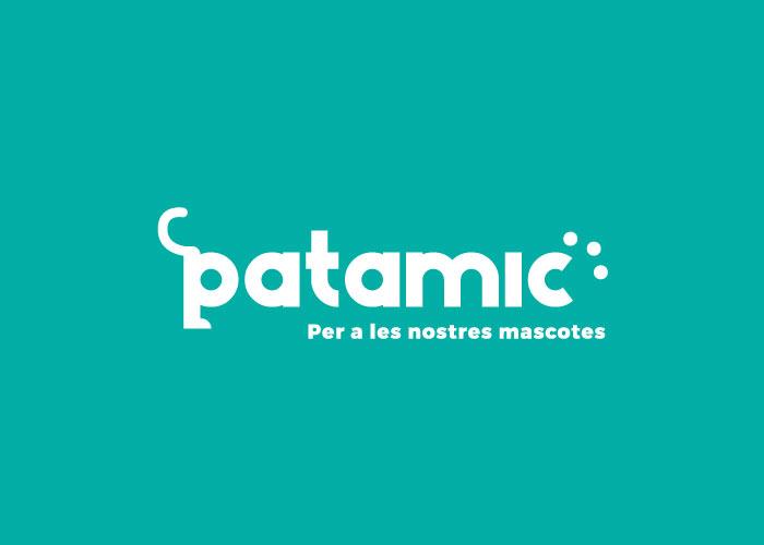 Logo de Patamic, una tienda para animales en Barcelona