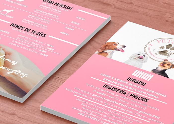 Flyer y tarjeta de cliente para estética canina