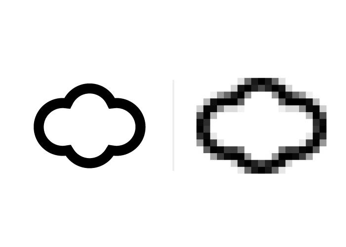 """La diferencia entre un vector (derecha) y un mapa de bits (izquierda) reside en la propia calidad de la imagen y su resolución. """" width=""""602"""" height=""""430"""" /> La diferencia entre un vector (izquierda) y un mapa de bits (derecha) reside en la propia calidad de la imagen y su resolución."""