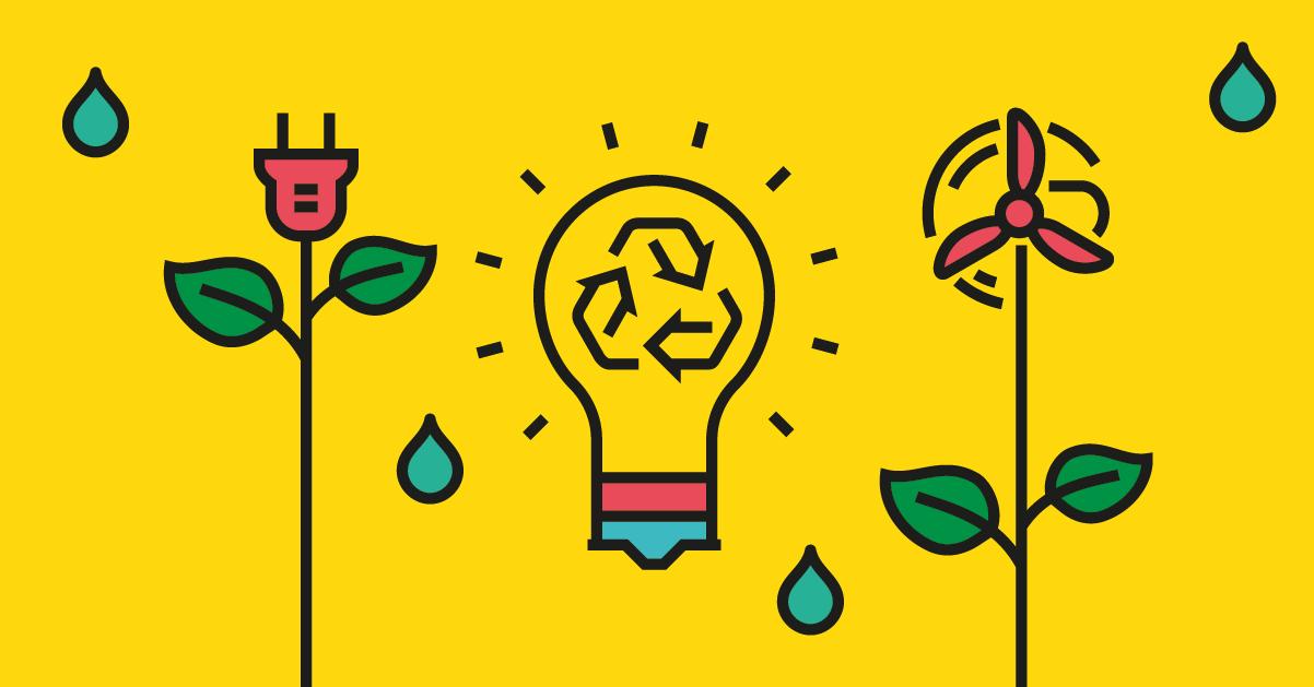 Logotipos energía, sostenibilidad y medio ambiente