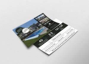 Diseño de flyer para proyecto de apartamentos de lujo en el caribe