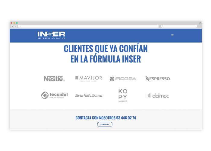 Diseño y desarrollo de web para empresa de soluciones informáticas