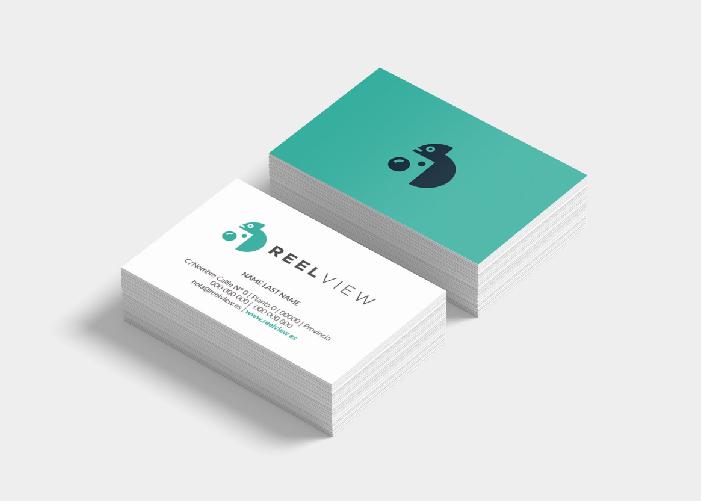 Diseño tarjetas de visita empresa camaleón