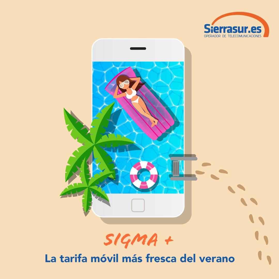 diseño campaña refrescante de telecomunicaciones verano