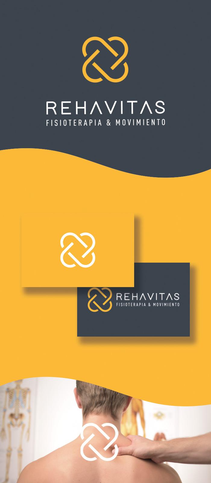 diseño logo fisioterapia y movimiento