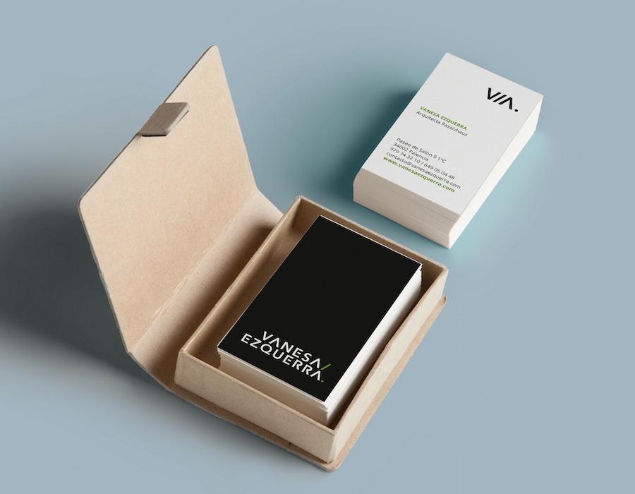 Diseño de tarjetas Arquitectura Passivhaus