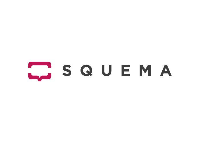 Logotipo de Squema, centro de psicólogos, sobre fondo blanco