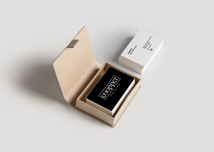 Diseño de tarjetas de visita para centro de peluquería y estética