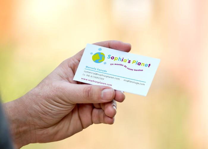 Diseño de tarjetas de visita para empresa discográfica de música infantil