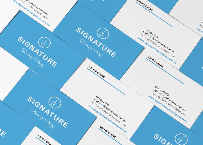Diseño de tarjetas de visita personales para empresa financiera en Australia