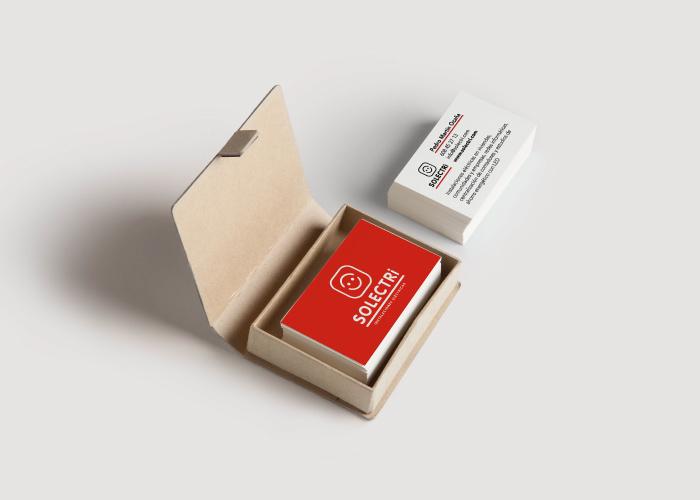 Diseño de tarjetas de visita para empresa dedicada al montaje de instalaciones eléctricas en Málaga