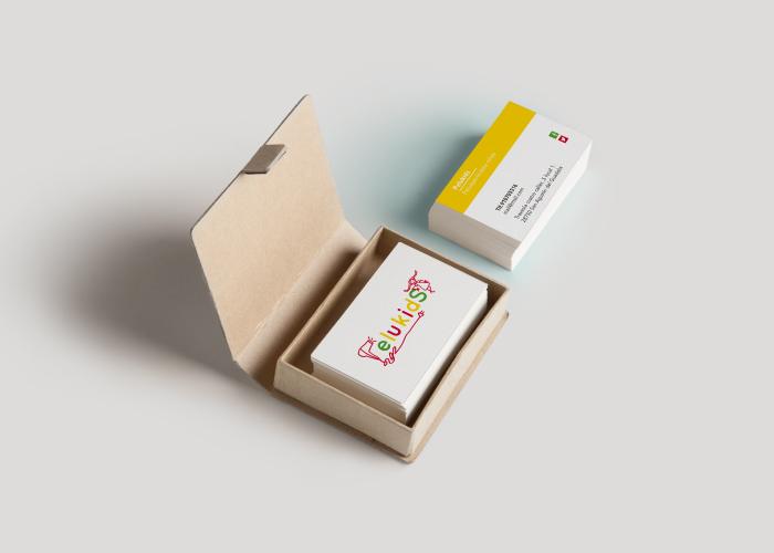 Diseño de tarjetas para peluquería dedicada al corte de pelo de niños y niñas