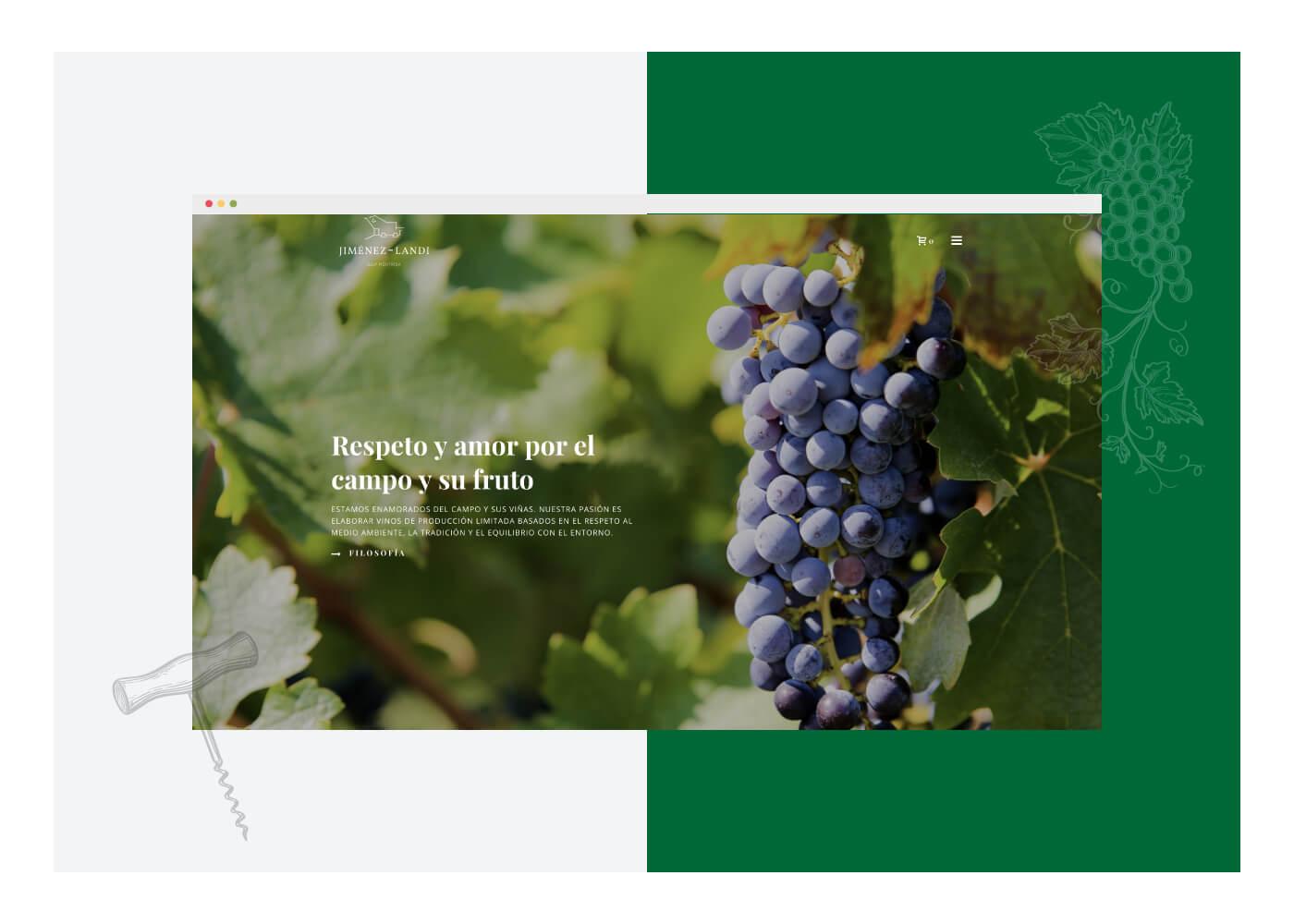 Diseño tienda online de vinos