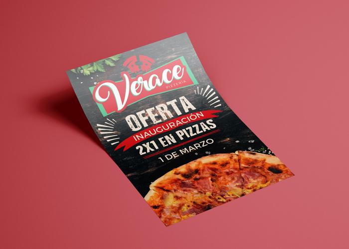 diseño flyer pizzería