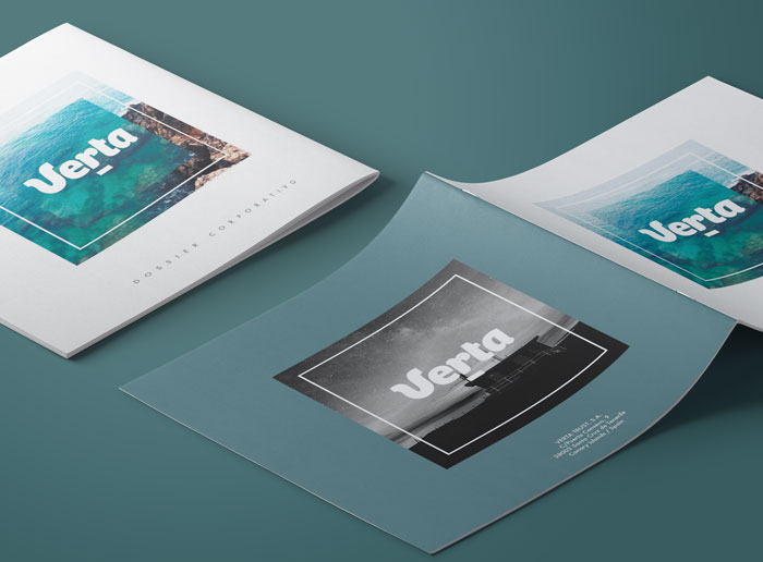 Diseño dossier corporativo empresa canaria de outsourcing