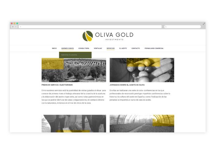 Diseño y desarrollo web empresa aceite de oliva