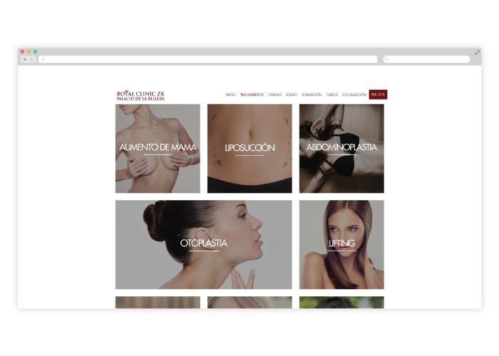Diseño web responsive para clínica de cirugía plástica y odontología