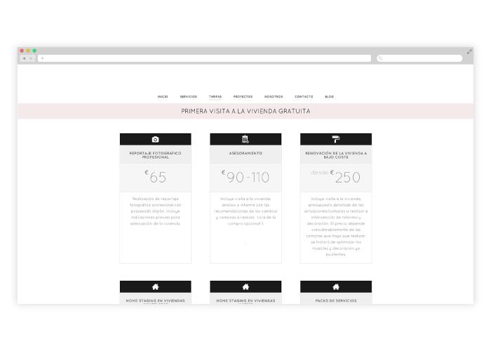 Diseño web para empresa dedicada al interiorismo