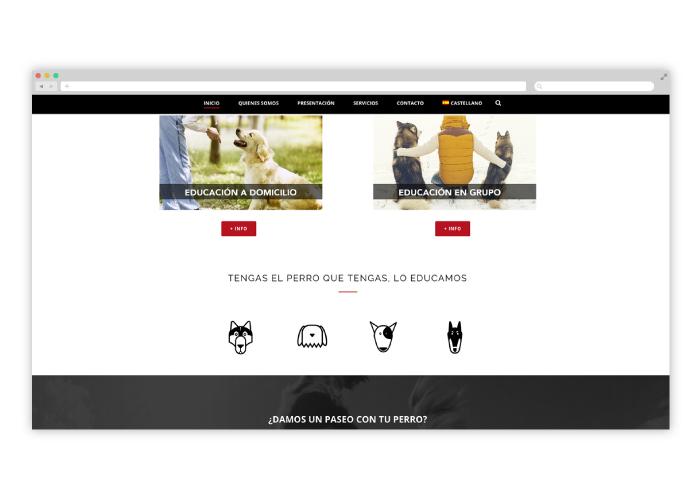 Diseño web educación canina