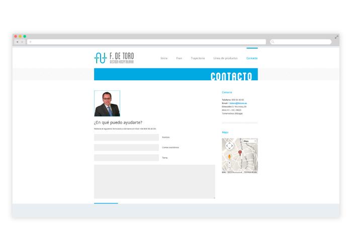 Diseño web para empresa de gestión hospitalaria