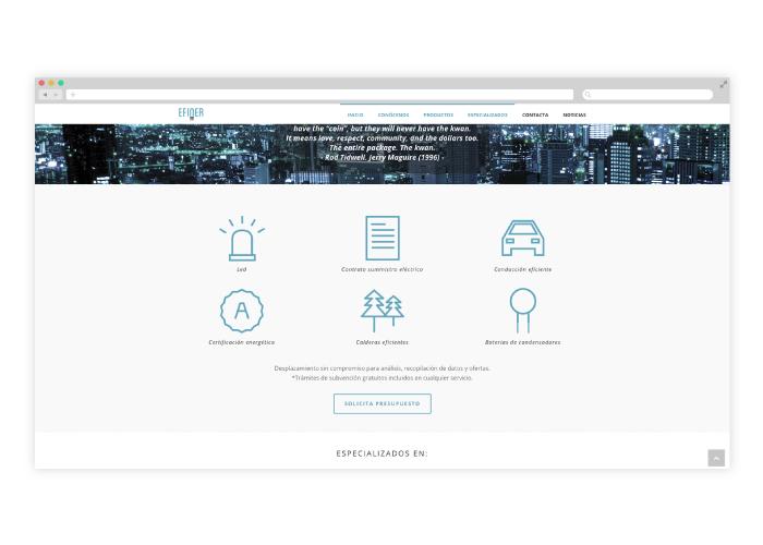 Diseño web wordpress para empresa de consultoría energética