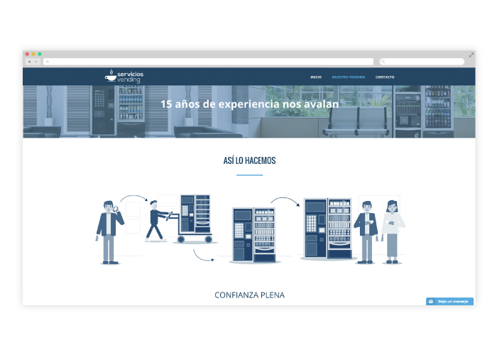 Diseño web para una empresa distribuidora de vending