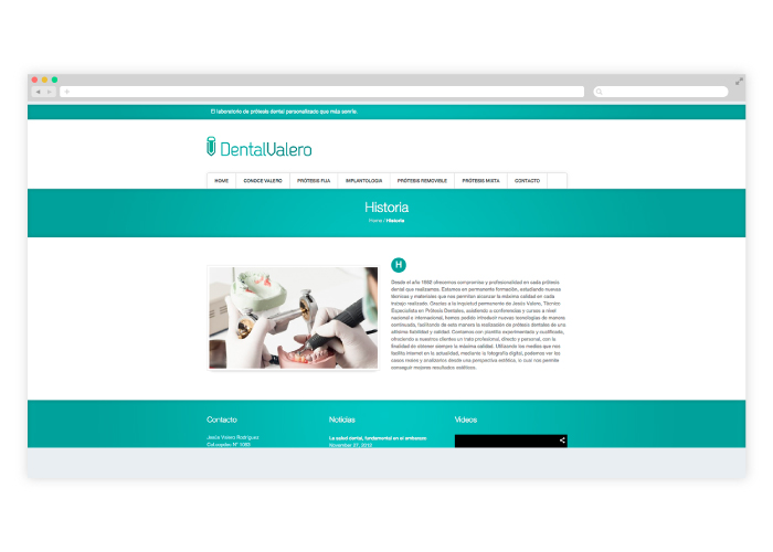 Diseño Web para laboratorio dental en Barcelona